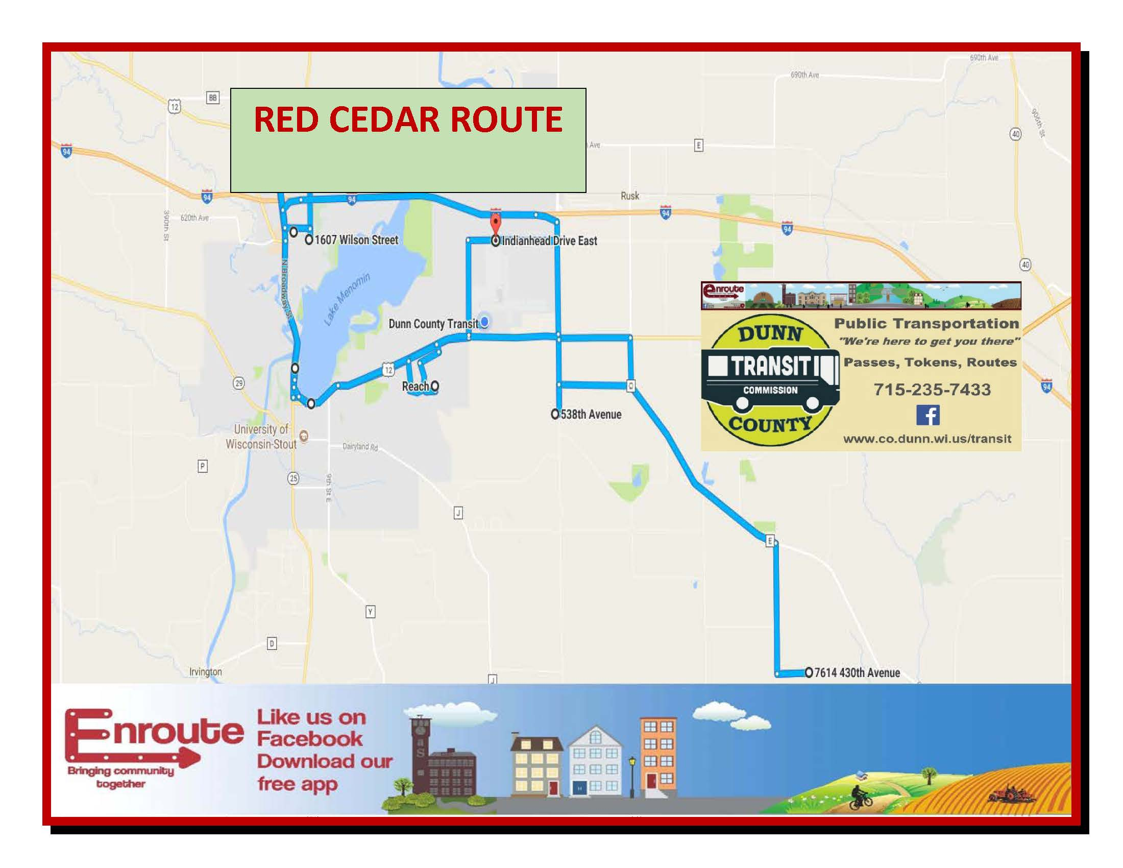 Bus Routes Dunn County Wi